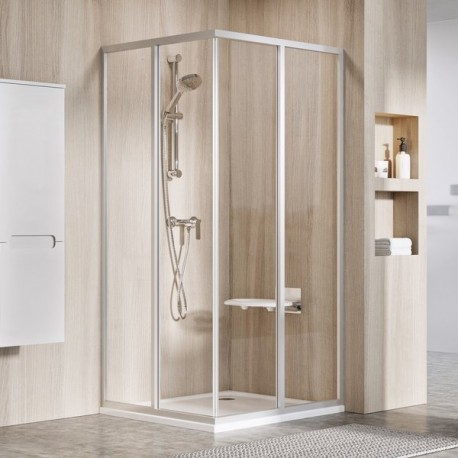 Supernova cabine douche 90x90cm couleur Blanc + transparent